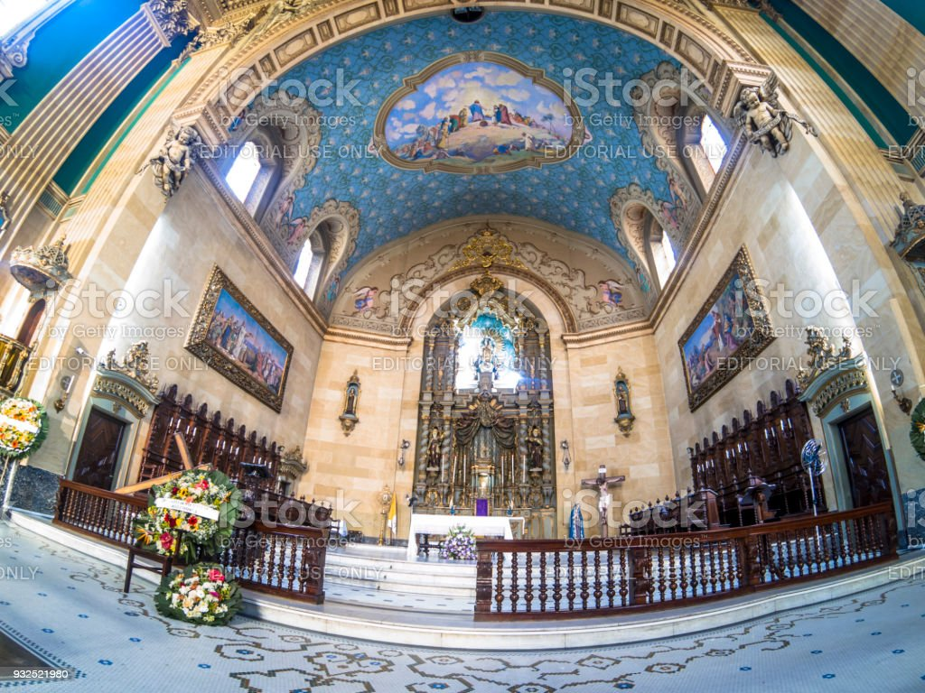 Basilica of Our Lady of Carmo, in  Sao Paulo stock photo