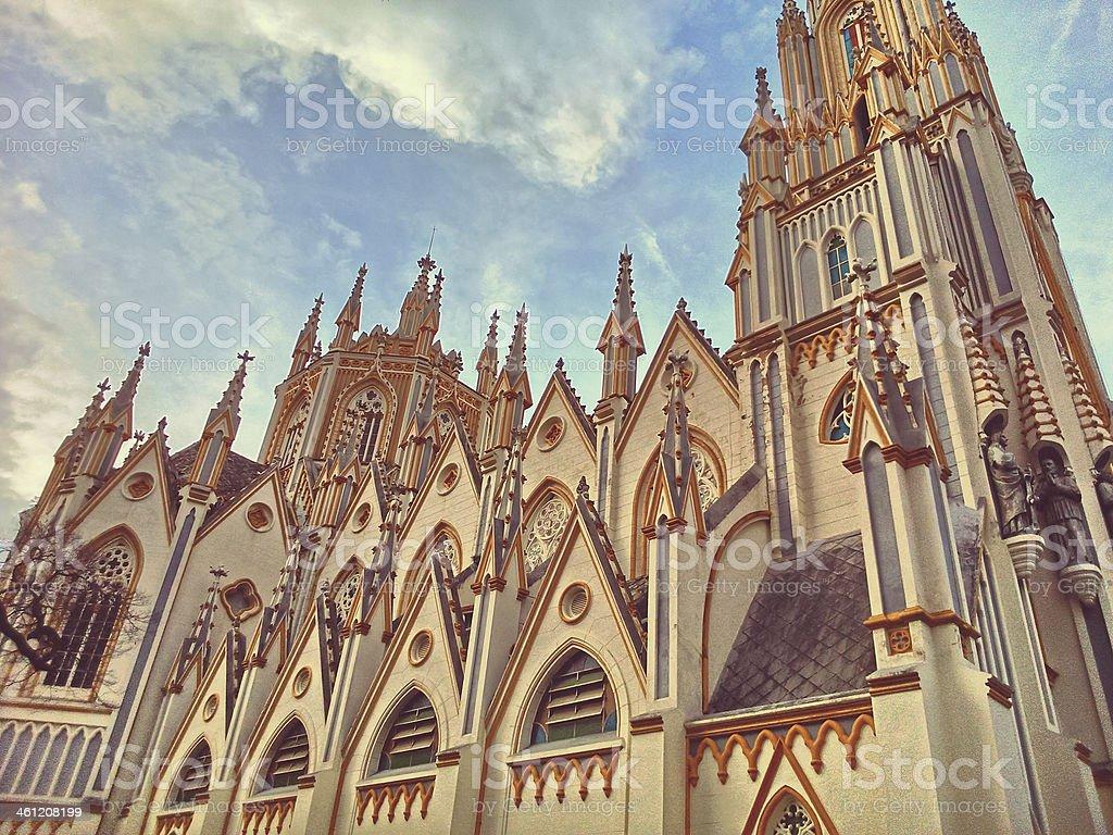 Basílica Nossa Senhora de Lourdes stock photo