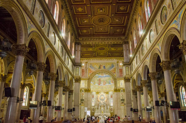 Basilica of Our Lady of Nazareth of Exile in Belém do Pará Brazil stock photo