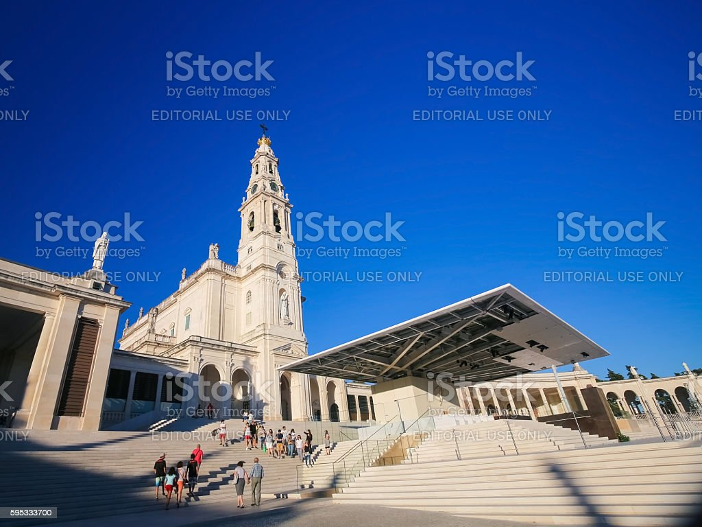 Basilica Of Our Lady Of The Rosary In Fatima Portugal Stock Photo