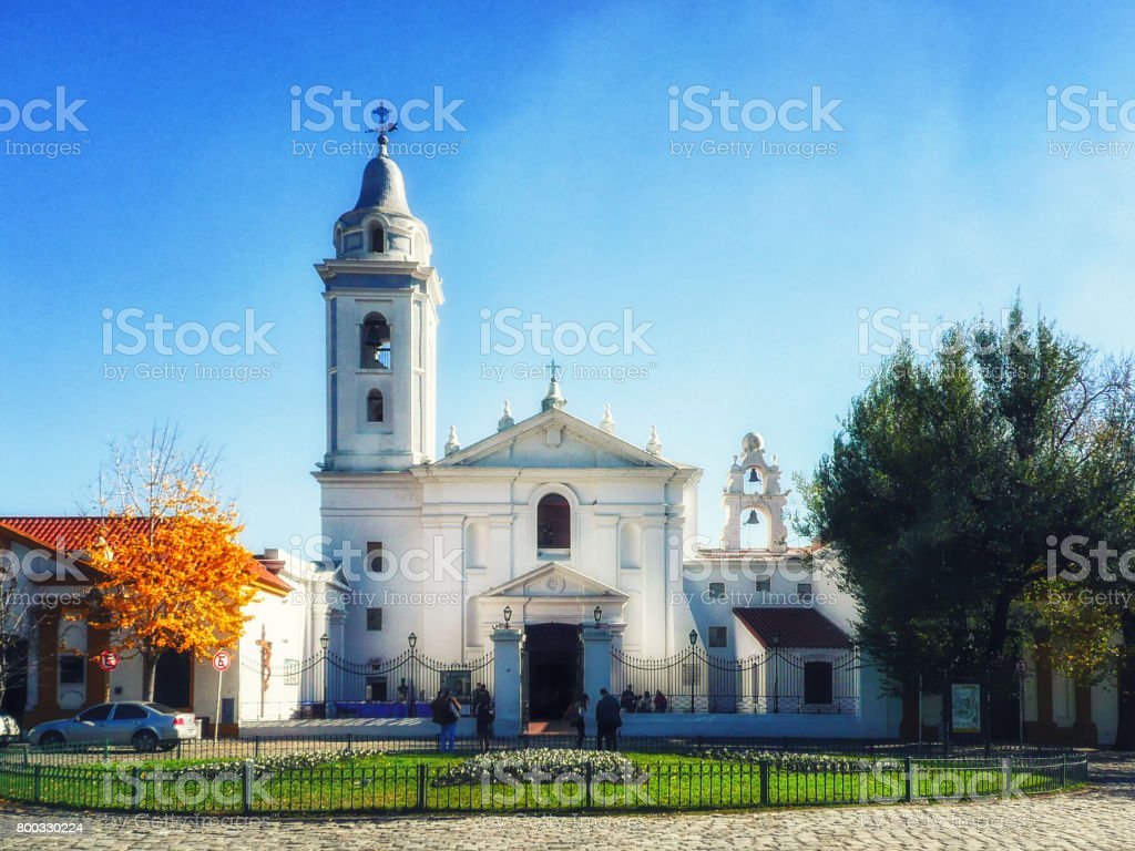 Basilica de Nuestra stock photo