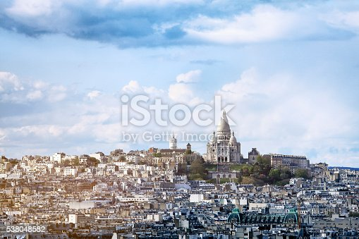 The Basilique Sacré-Coeur (Basilica of the Sacred Heart) is a Roman Catholic church and familiar landmark in Paris, located on the highest point of the city in Montmartre.
