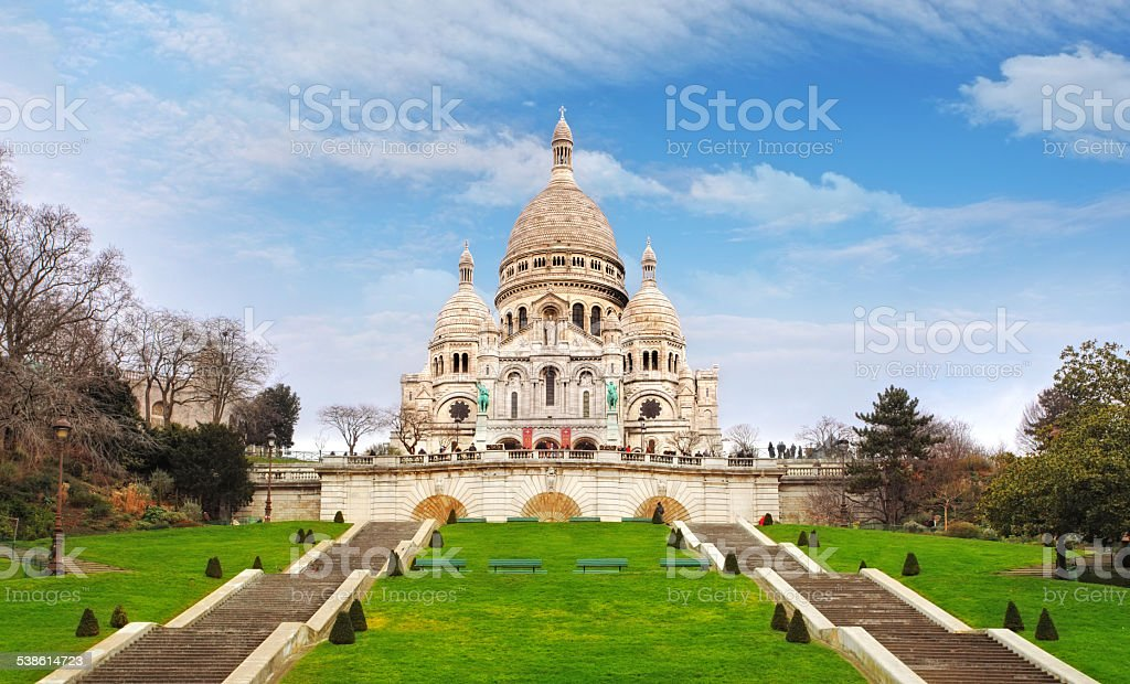 Basilica of Sacre-Coeur in Montmartre, Paris Basilica of Sacre-Coeur in Montmartre, Paris 2015 Stock Photo