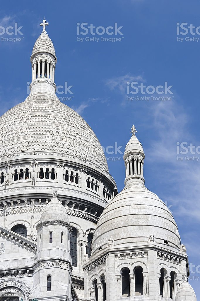 Basilica of Sacre-Coeur royalty-free stock photo