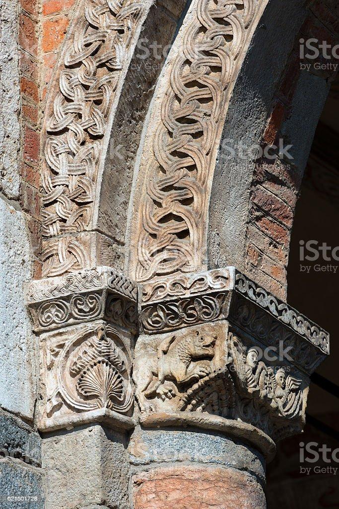 Basilica of Saint Ambrogio - Milano Italy photo libre de droits