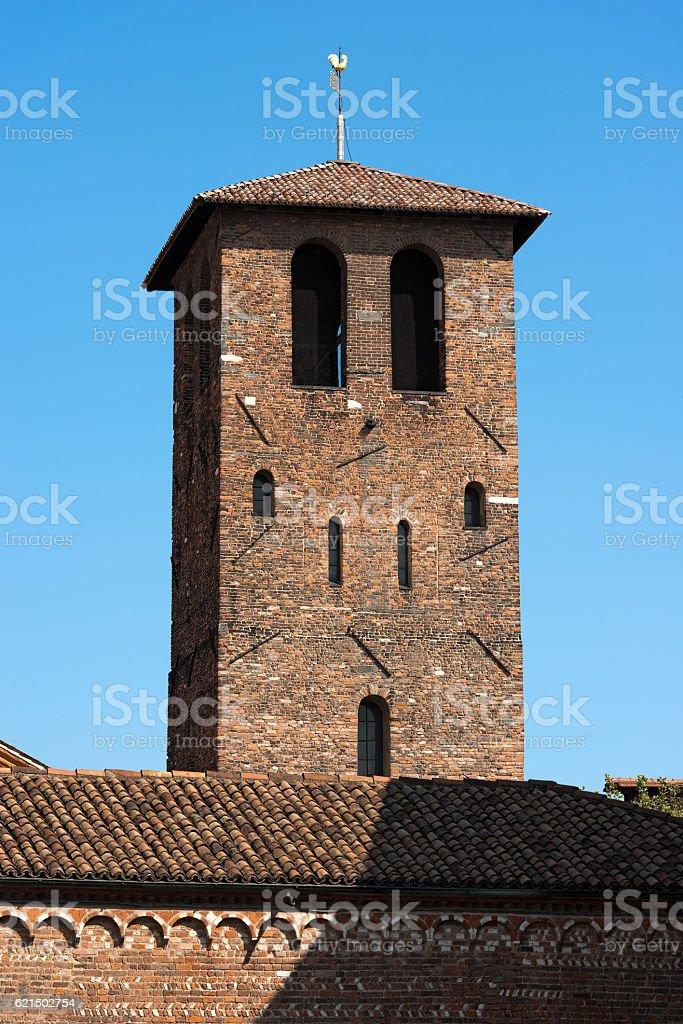 Basilica of Saint Ambrogio - Milano Italy foto stock royalty-free