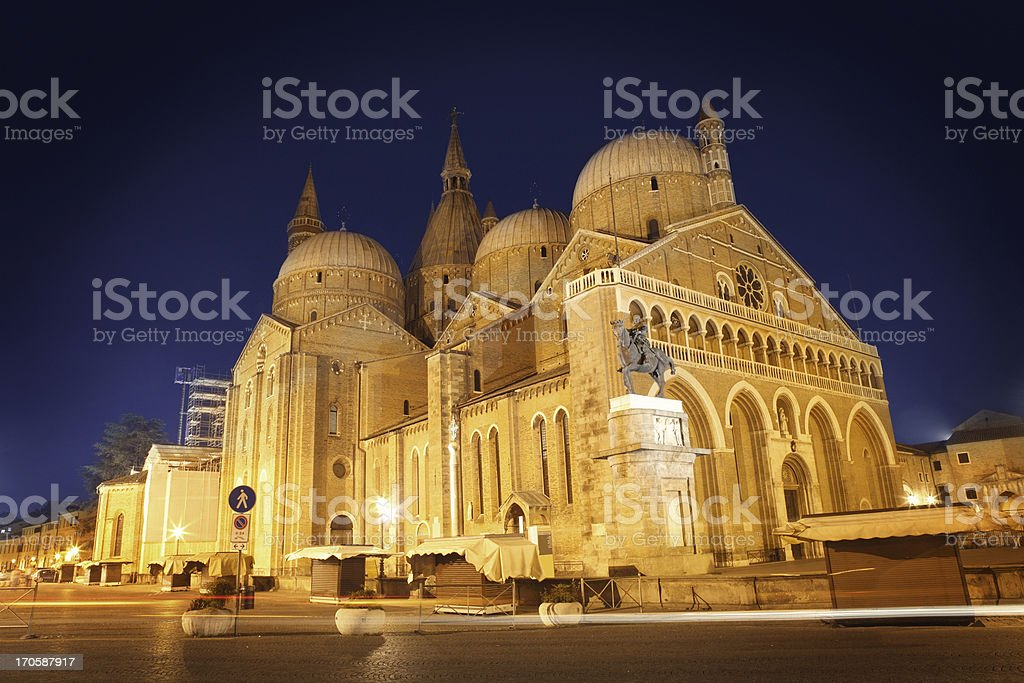 Basilica of Saint Anthony in Padua stock photo
