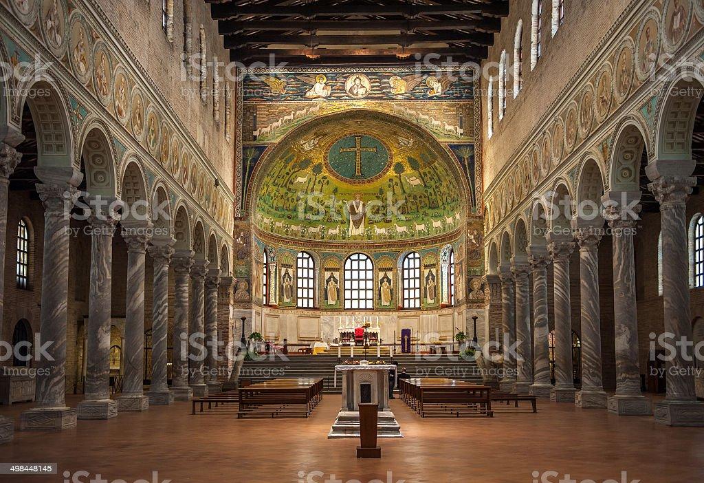 Basilica of Saint Apollinaris in Classe, Emilia-Romagna, Italy stock photo