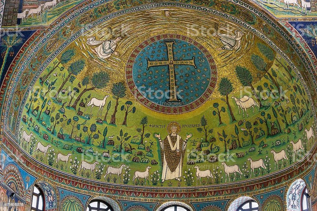 Basilica of Saint Apollinaris in Classe, Italy stock photo