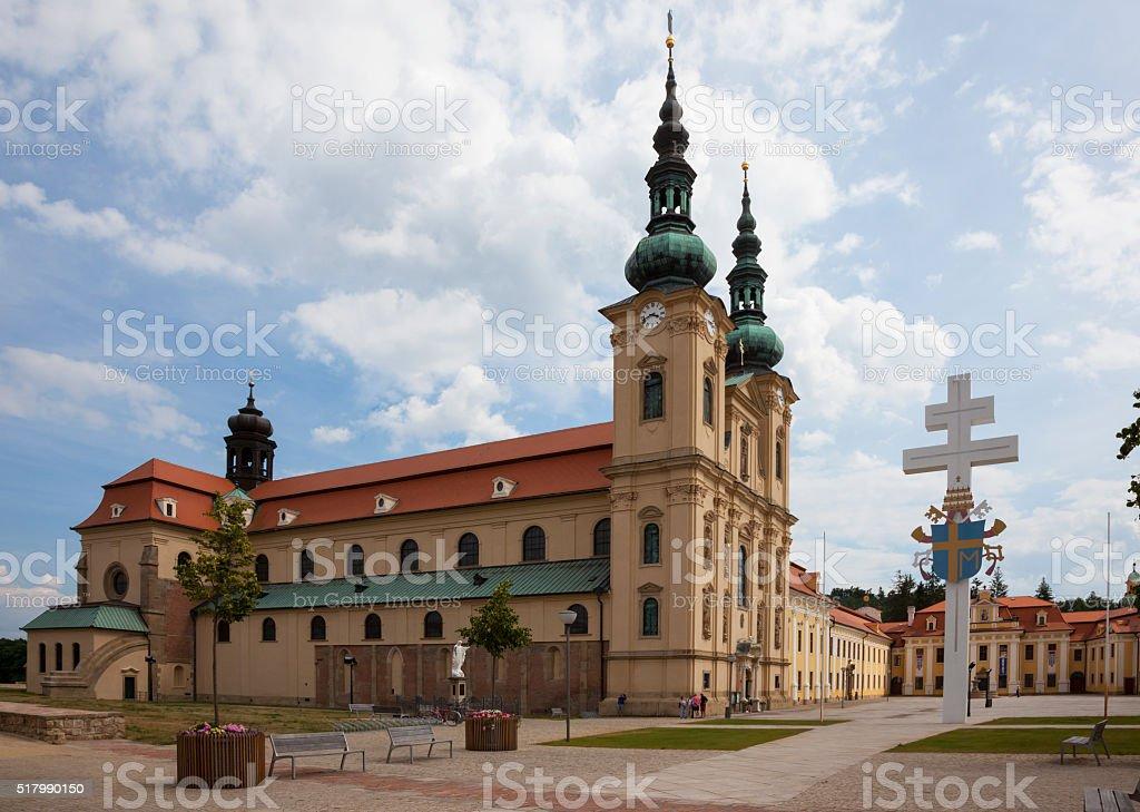 Basilica of Saint Cyrillus and Methodius in Velehrad village stock photo
