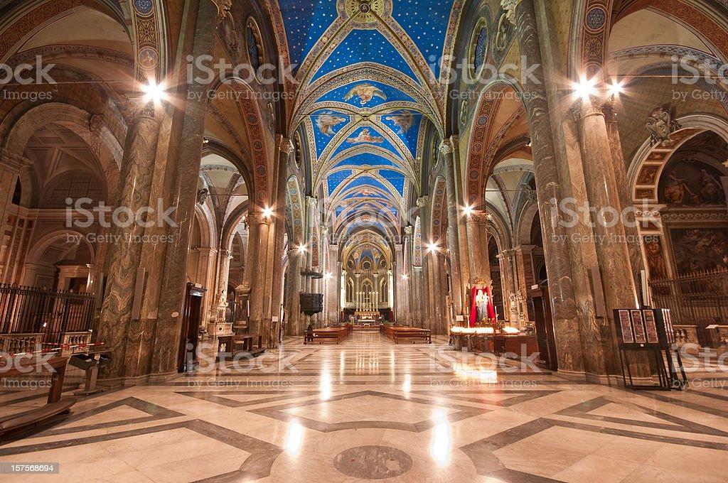 Basilica of Saint Mary Above Minerva royalty-free stock photo