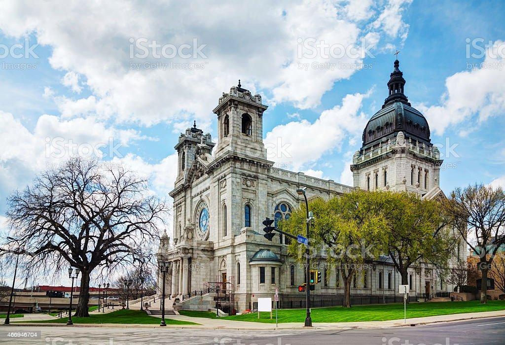 Basilica of Saint Mary in Minneapolis, MN Basilica of Saint Mary in Minneapolis, MN in the morning 2015 Stock Photo