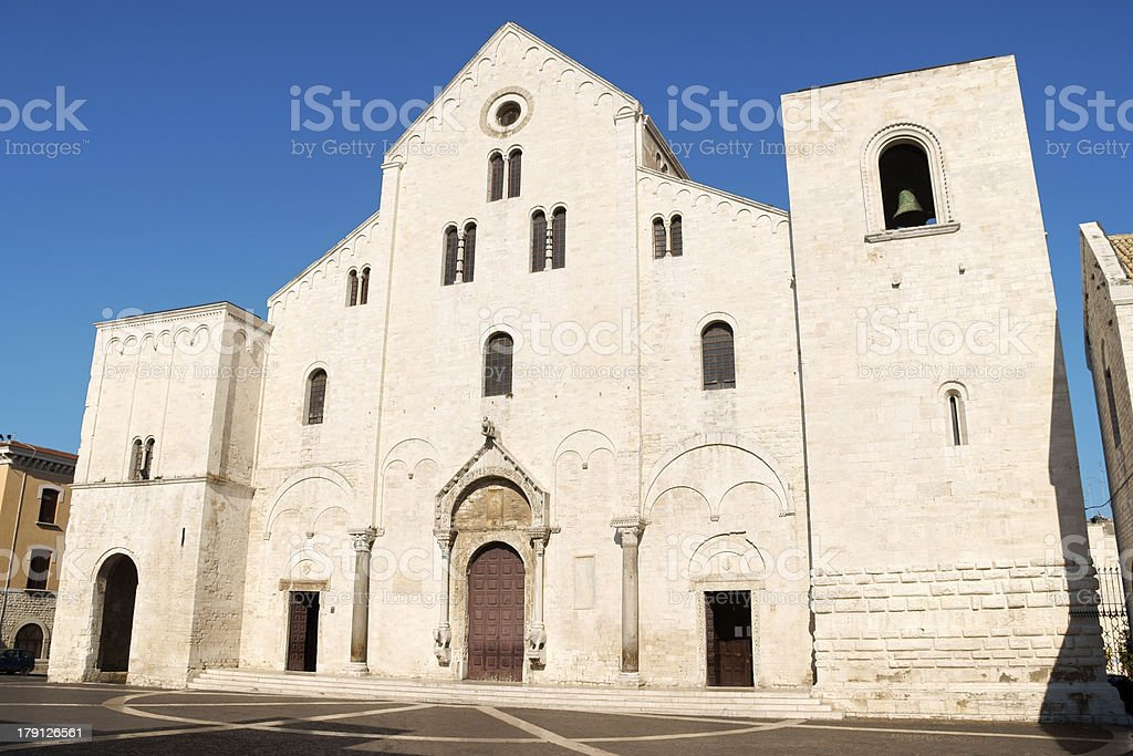 Basilica of Saint Nicholas in Bari, Italy stock photo