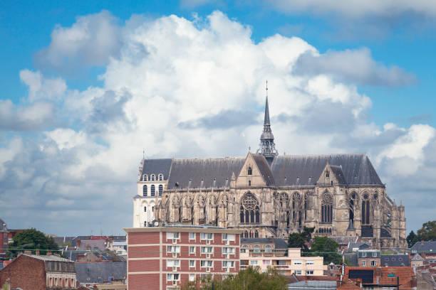 Basilica of Saint-Quentin stock photo