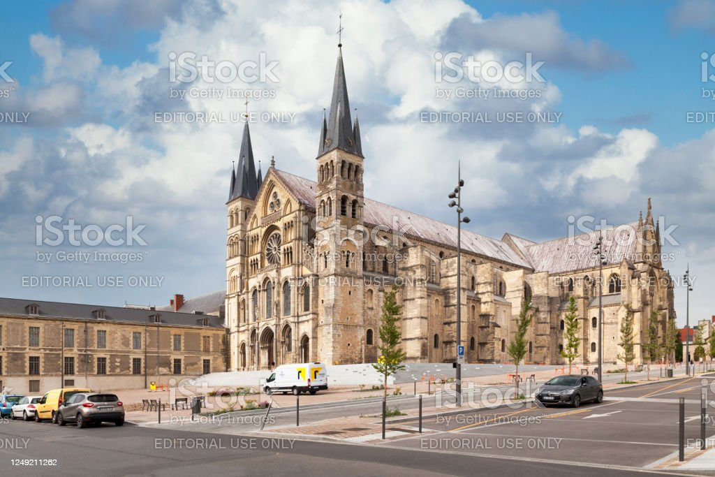 Basilica of Saint-Remi in Reims - Royalty-free Abbey - Monastery Stock Photo