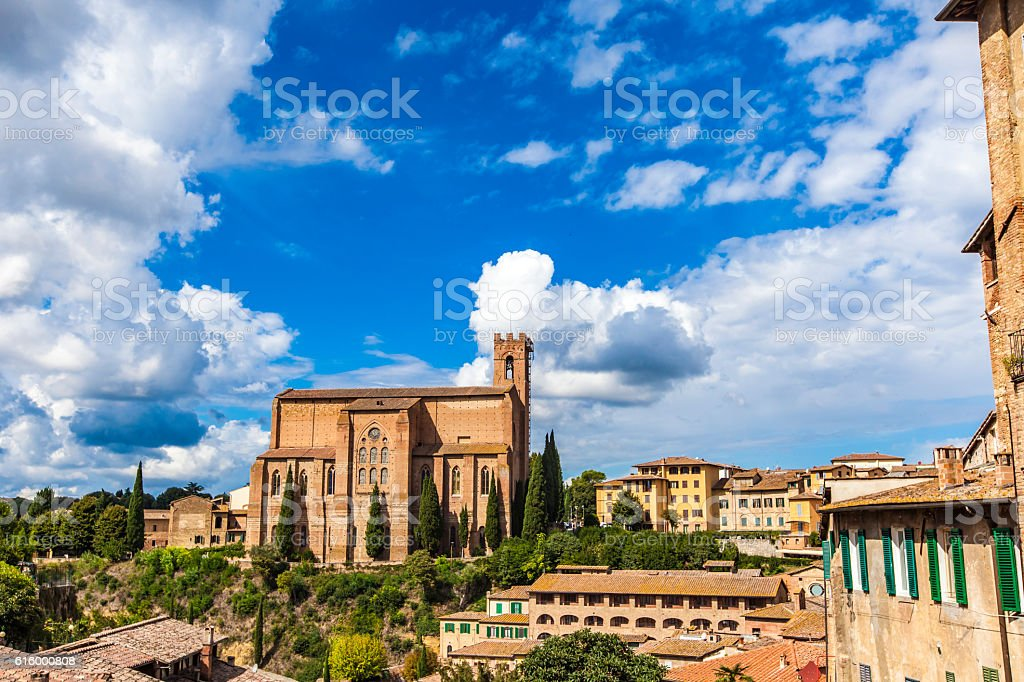 Basilica of San Domenico in Siena stock photo