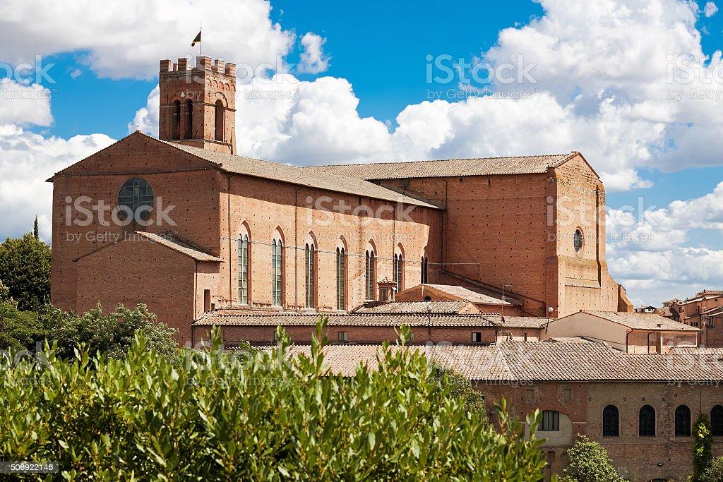 Basilica of San Domenico, Siena, Italy stock photo
