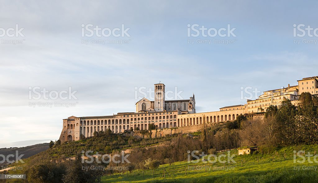 Basilica di San Francesco d'Assisi, Assisi Umbria Italia - foto stock