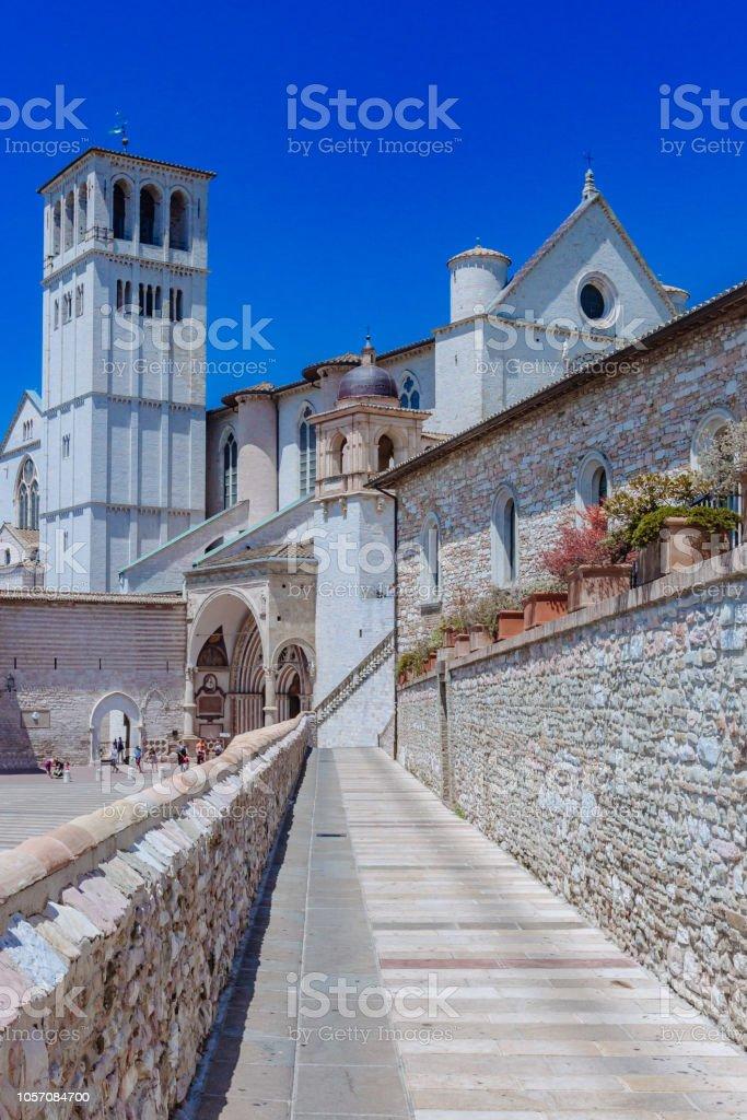 Basilica of San Francesco d'Assisi in Assisi, italy - foto stock
