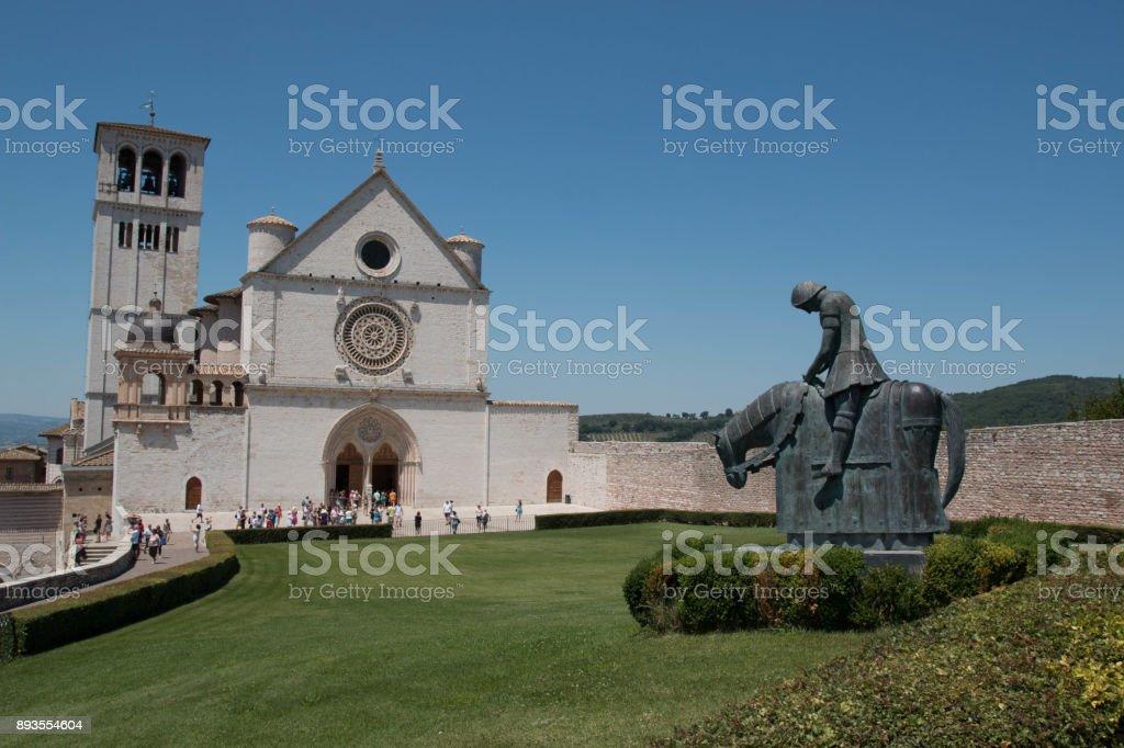 Basilica of San Francesco d'Assisi, Italy. - foto stock