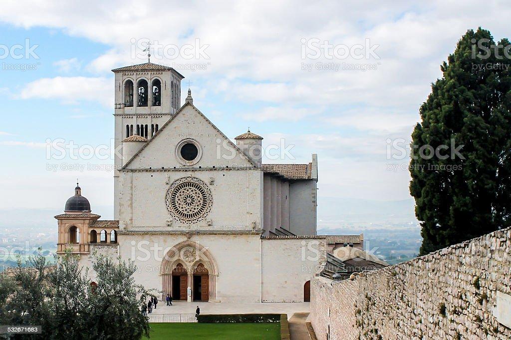 Basilica di San Francesco d'Assisi - foto stock