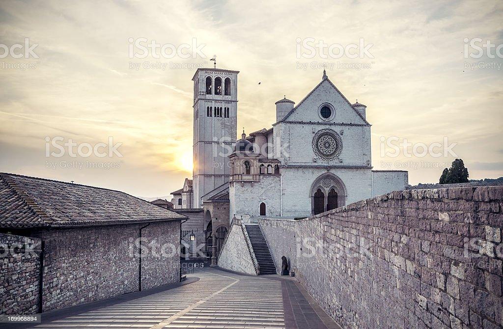 Basilica di San Francesco d'Assisi, Umbria Italia - foto stock