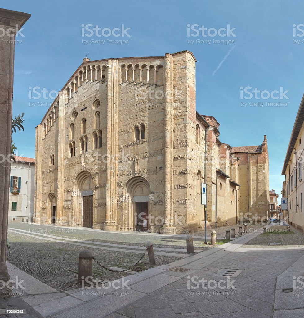 Basilica of San Michele Maggiore in Pavia stock photo