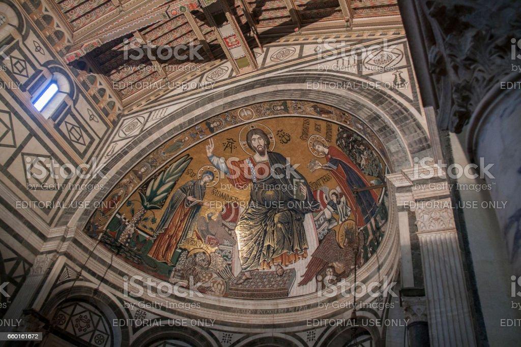 Basilica of San Miniato al Monte, Florence Italy stock photo