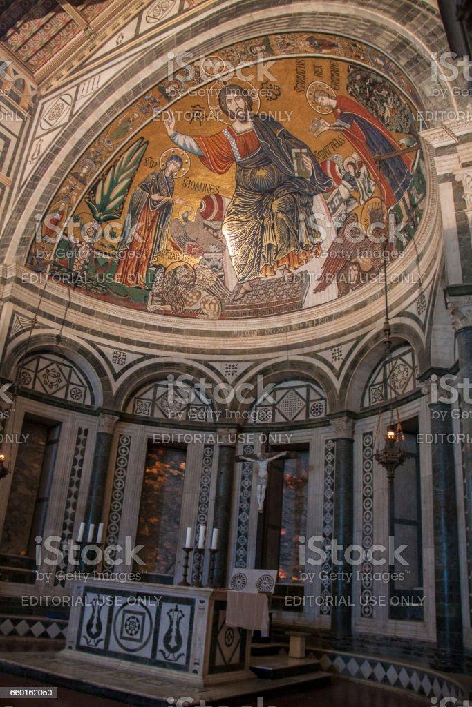 Basilica of San Miniato al Monte, Florence Italy стоковое фото