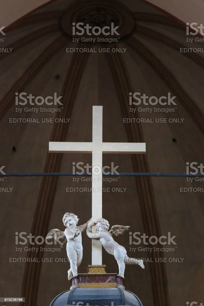 Basilica of San Petronio, Bologna stock photo