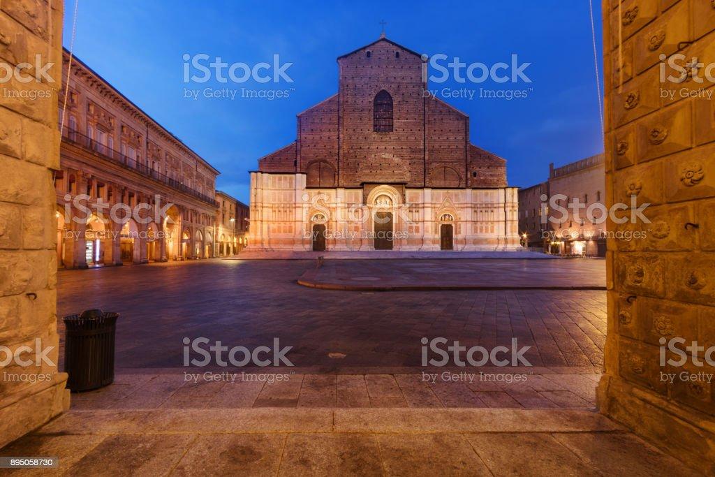 Basilica of San Petronio (Bologna, Italy) stock photo