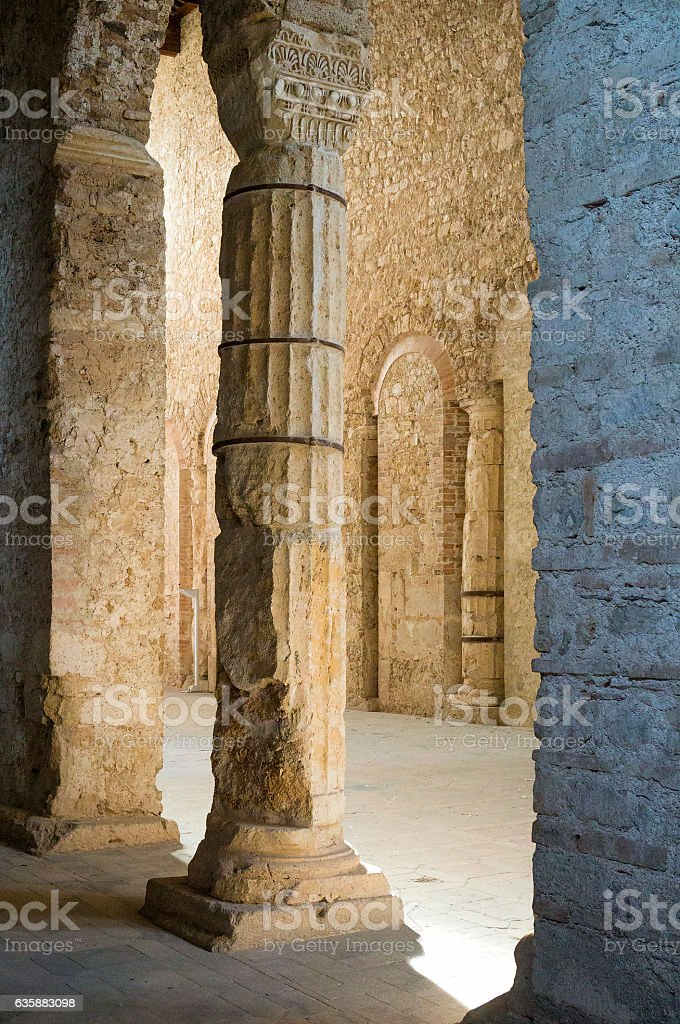 Basilica of San Salvatore. Spoleto, Italy stock photo