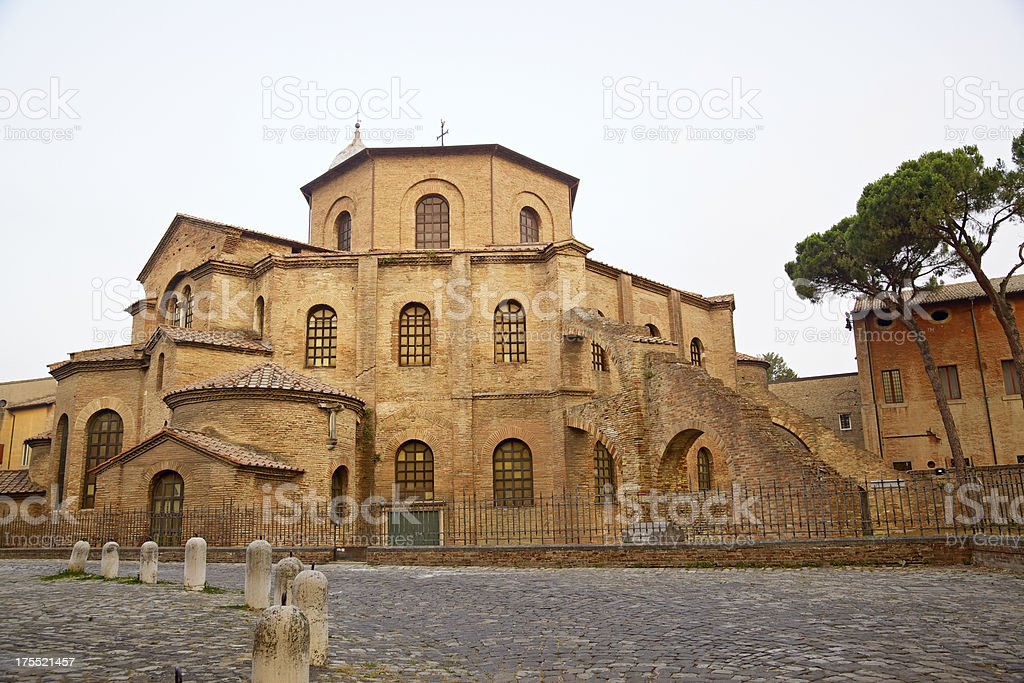 Basilica of San Vitale, Ravenna, Italy. stock photo