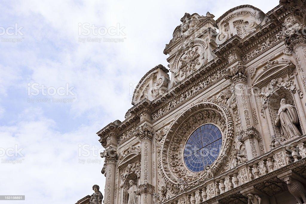 Basilica of Santa Croce In Lecce stock photo