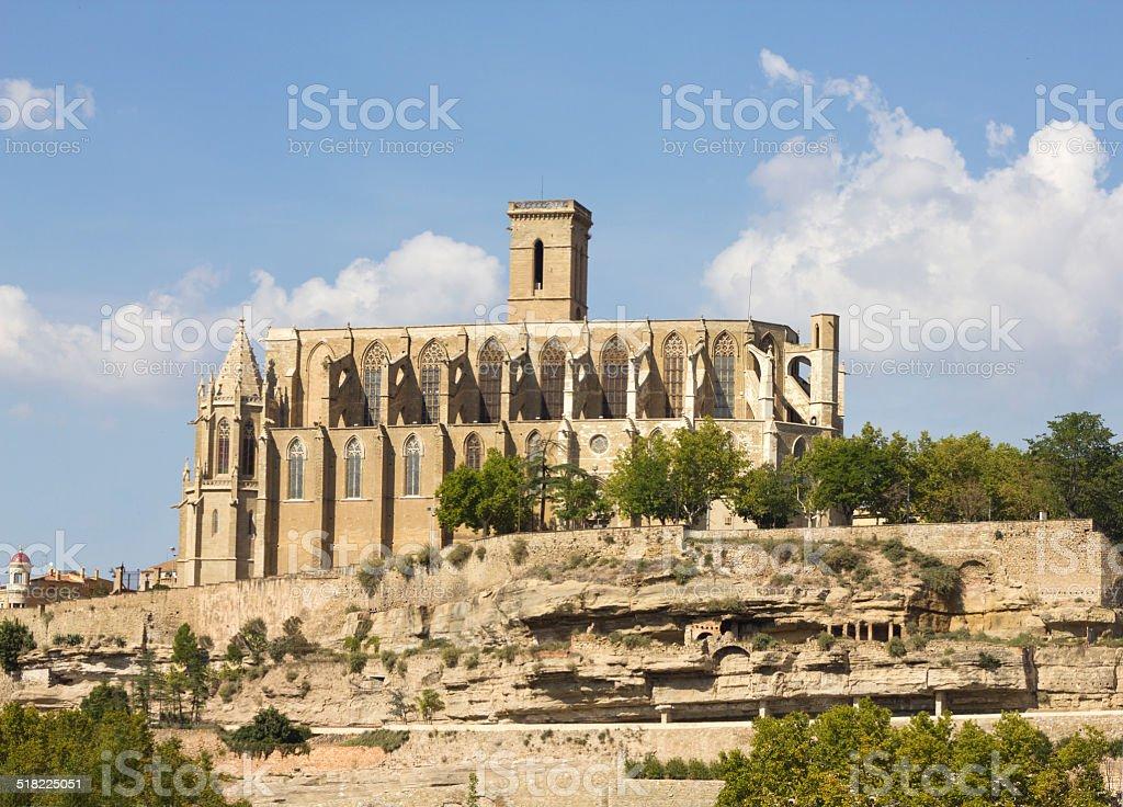 Basílica de Santa maría de la Seu en Manresa - foto de stock