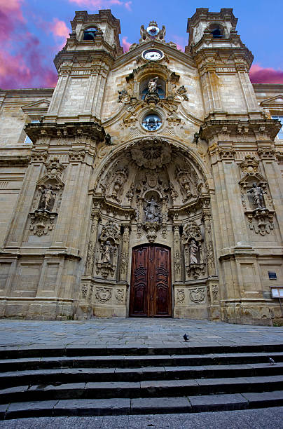 basilika santa maria del coro.san sebastian.spain - engelportal stock-fotos und bilder