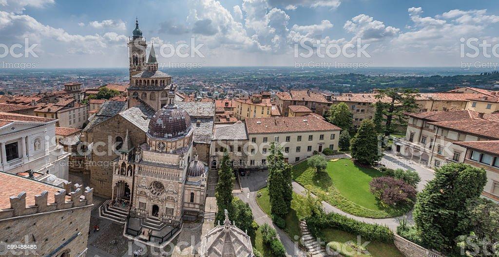 Basílica de Santa Maria Maggiore Bergamo, Italia - foto de stock