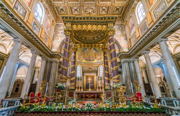 basilika santa maria maggiore in rom, italien. april-07-2018 - römisch 6 stock-fotos und bilder