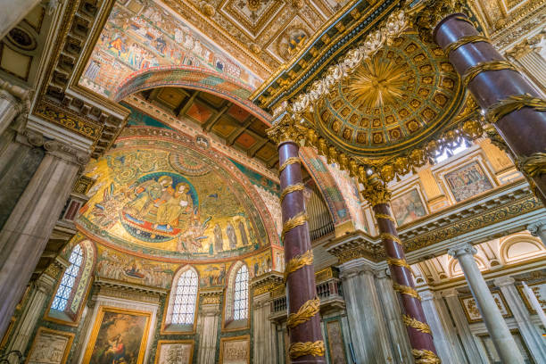 basilika santa maria maggiore in rom, italien. - römisch 6 stock-fotos und bilder