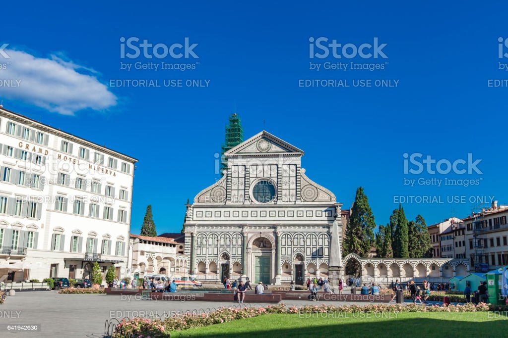 Basilica of Santa Maria Novella in Florence stock photo