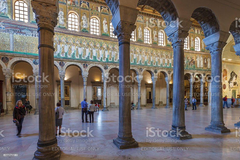 Basilica of Sant'Apollinare Nuovo, Ravenna stock photo