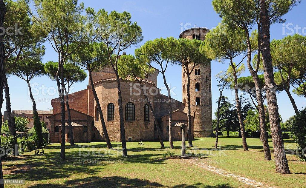 Basilica of St. Apollinare in Classe, Ravenna stock photo