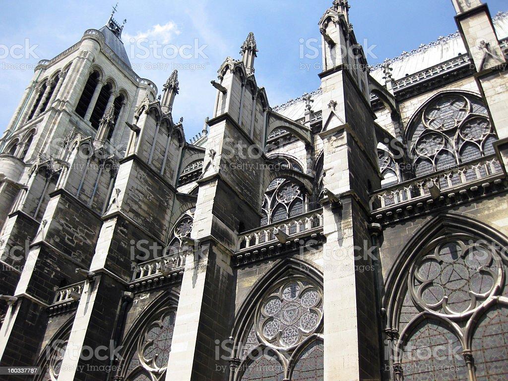 Basilica of St. Denis, Paris stock photo