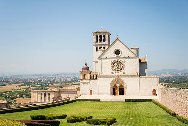 Basilica of St Francesco, Assisi The basilica of St Francesco in Assisi, Italy. basilica stock pictures, royalty-free photos & images