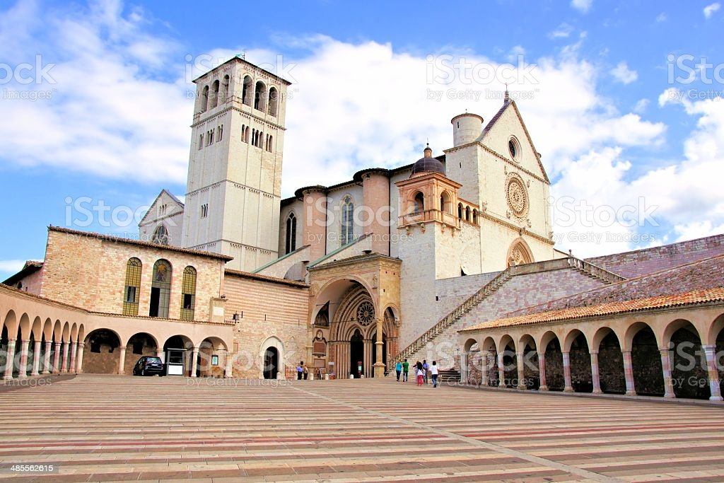 Basilica of St Francis, Assisi stock photo