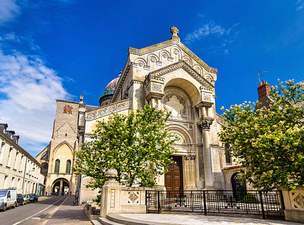 Basilica of St. Martin in Tours - France Basilica of St. Martin in Tours - France basilica stock pictures, royalty-free photos & images