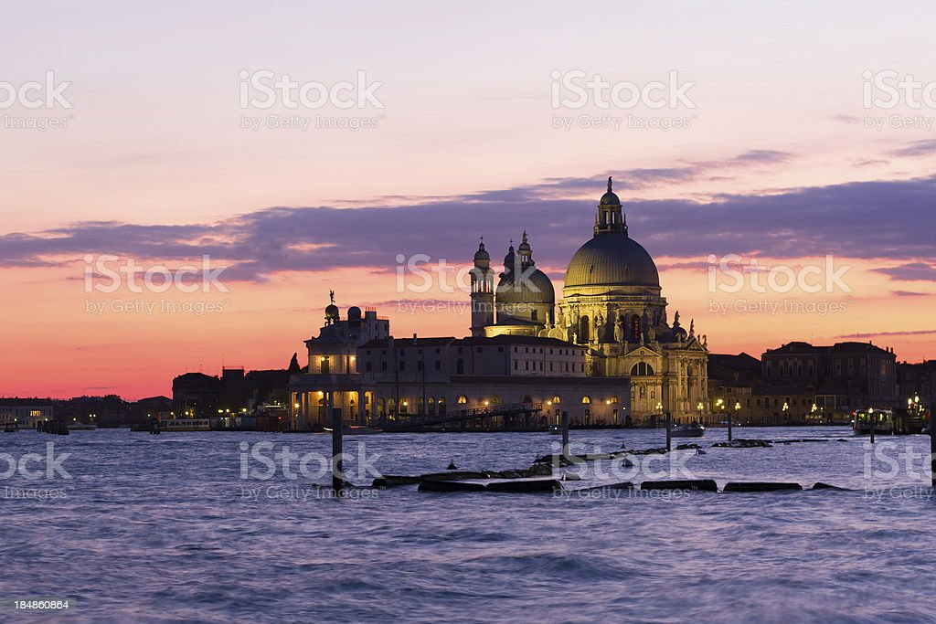 Basilica of St. Mary's Health, Venice royalty-free stock photo