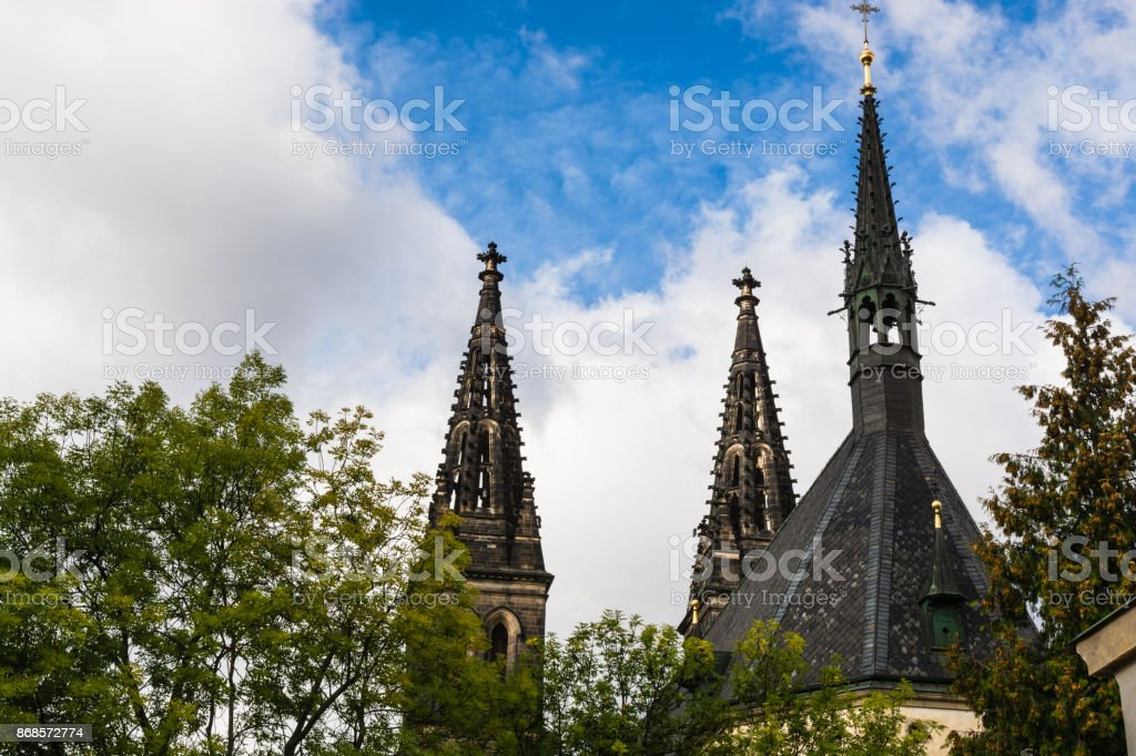 Basilica of St. Peter and St. Paul in Prague, Czech Republic stock photo