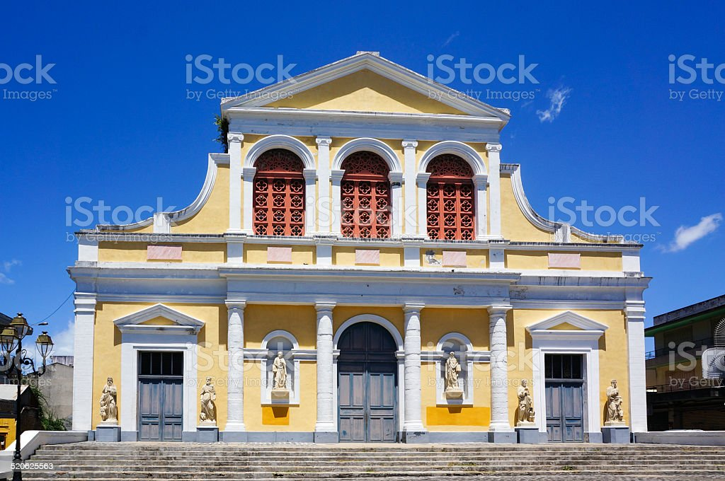 Basilique St Pierre & St Paul in Pointe-à-Pitre, Guadeloupe stock photo