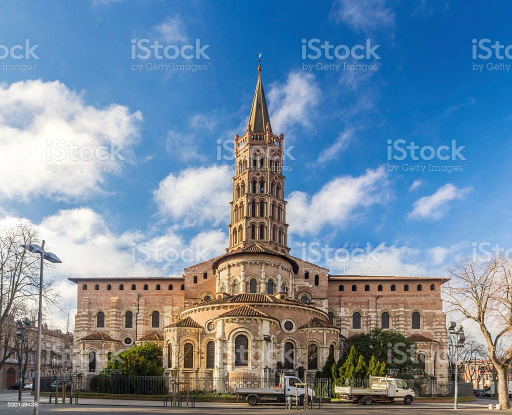 Basilica of St. Sernin in Toulouse, France stock photo